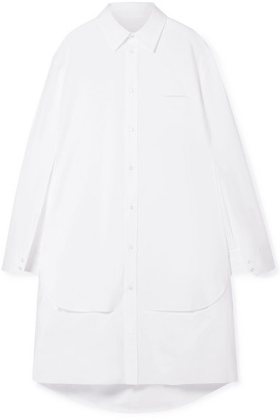 Maison Margiela - Oversized Cutout Cotton-poplin Tunic - White