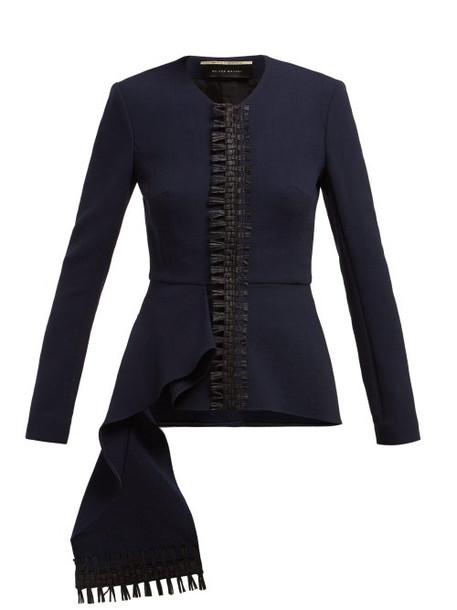 jacket navy wool