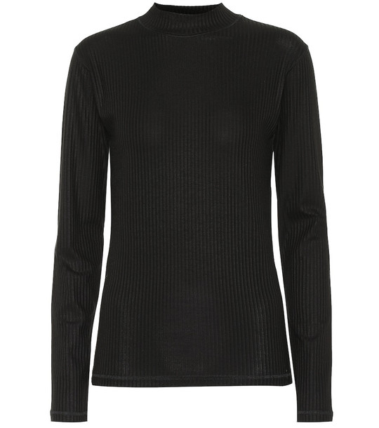 Eytys Stretch ribbed-knit top in black