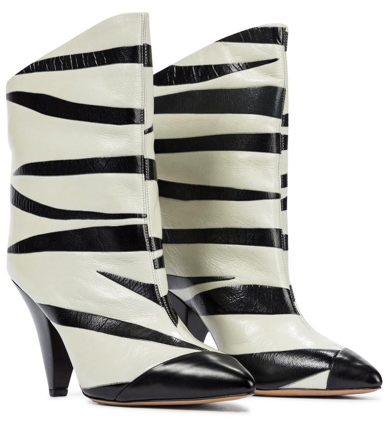 Isabel Marant Leebu leather ankle boots in black