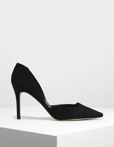 Classic D'Orsay Stiletto Pumps in black
