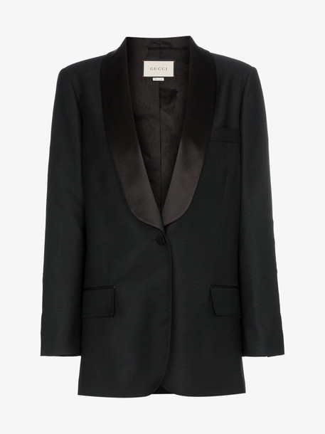 Gucci Jacket with embroidered patch in black