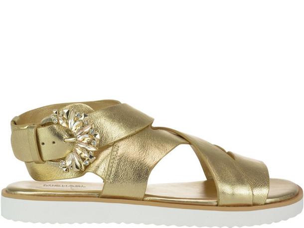 Michael Kors Frieda Flat Sandals in gold