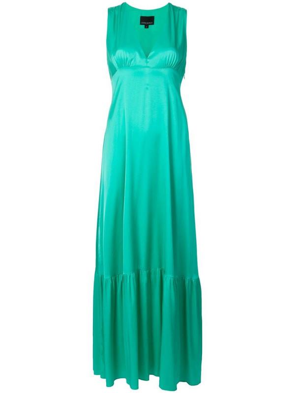 Cynthia Rowley Asher flounce gown in green