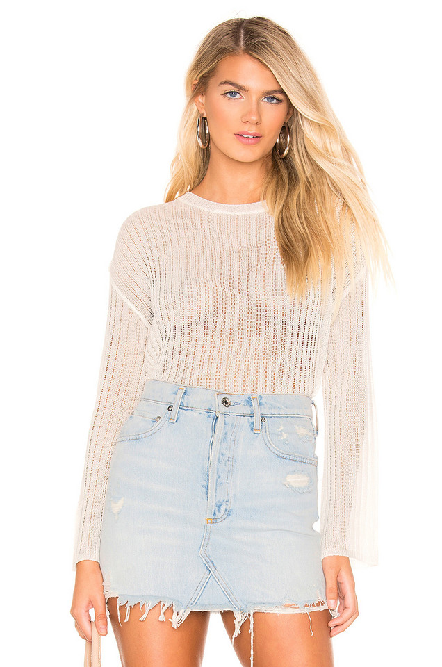 superdown Naomi Knit Sweater in white