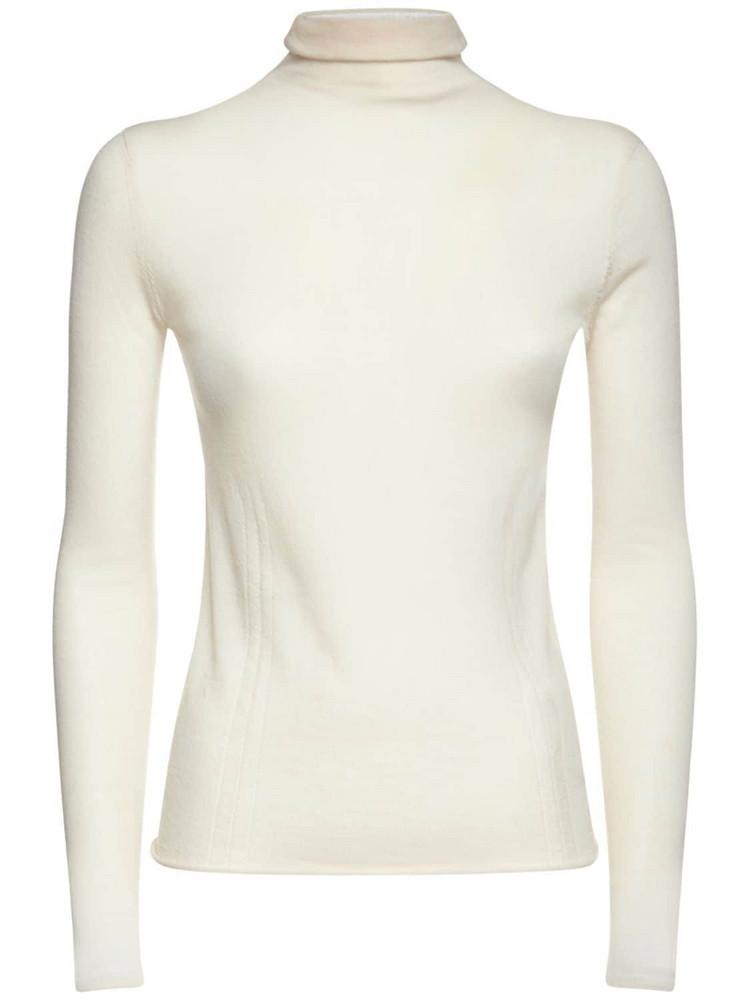 ASPESI Wool Knit Turtleneck Sweater in ivory