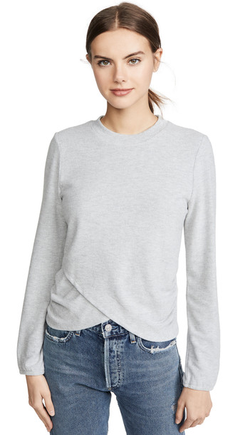 Z Supply The Soft Spun Ruched Top in grey