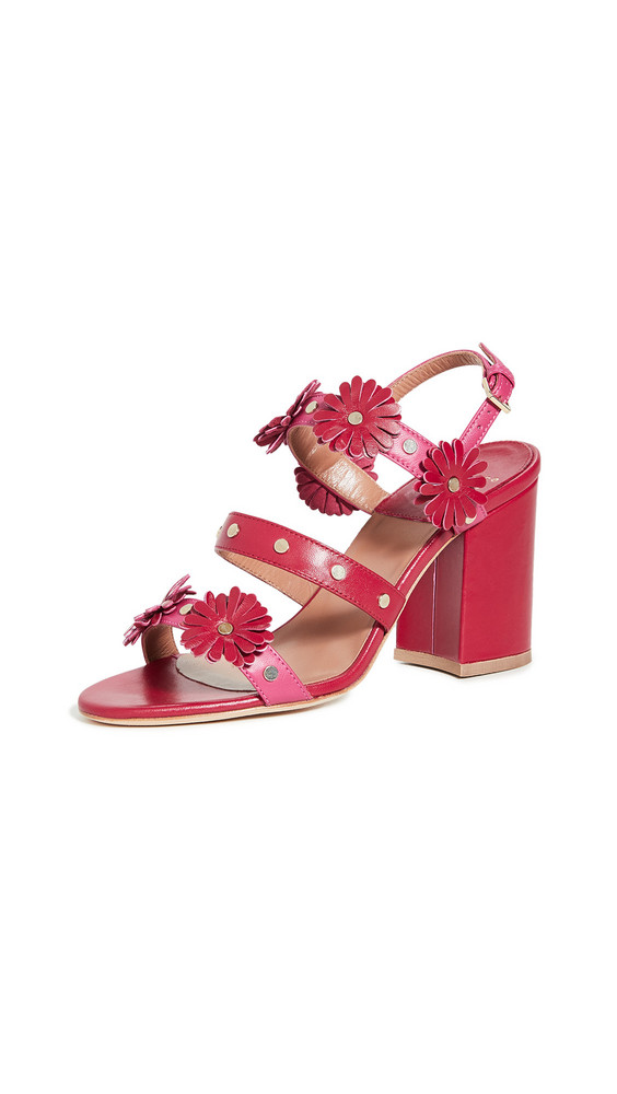 Laurence Dacade Valance Sandals in fuchsia / red