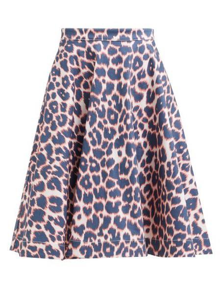 Calvin Klein 205w39nyc - Leopard Print Denim Midi Skirt - Womens - Red Multi