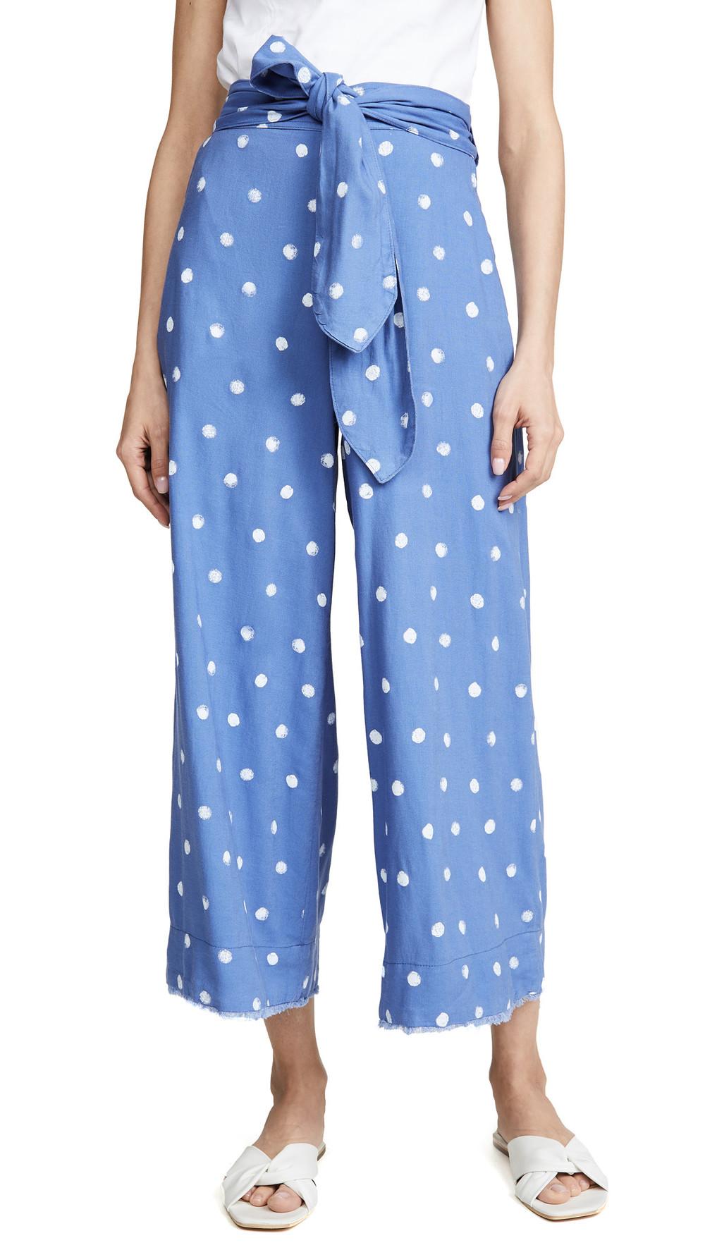 Bella Dahl Belted Crop Pants in blue