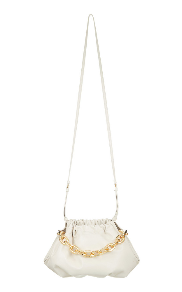 The Volon Gabi Chain-Embellished Leather Shoulder Bag in white