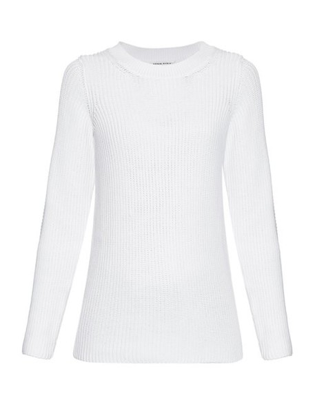 Sonia Rykiel - Chunky Knit Back Overlay Sweater - Womens - White