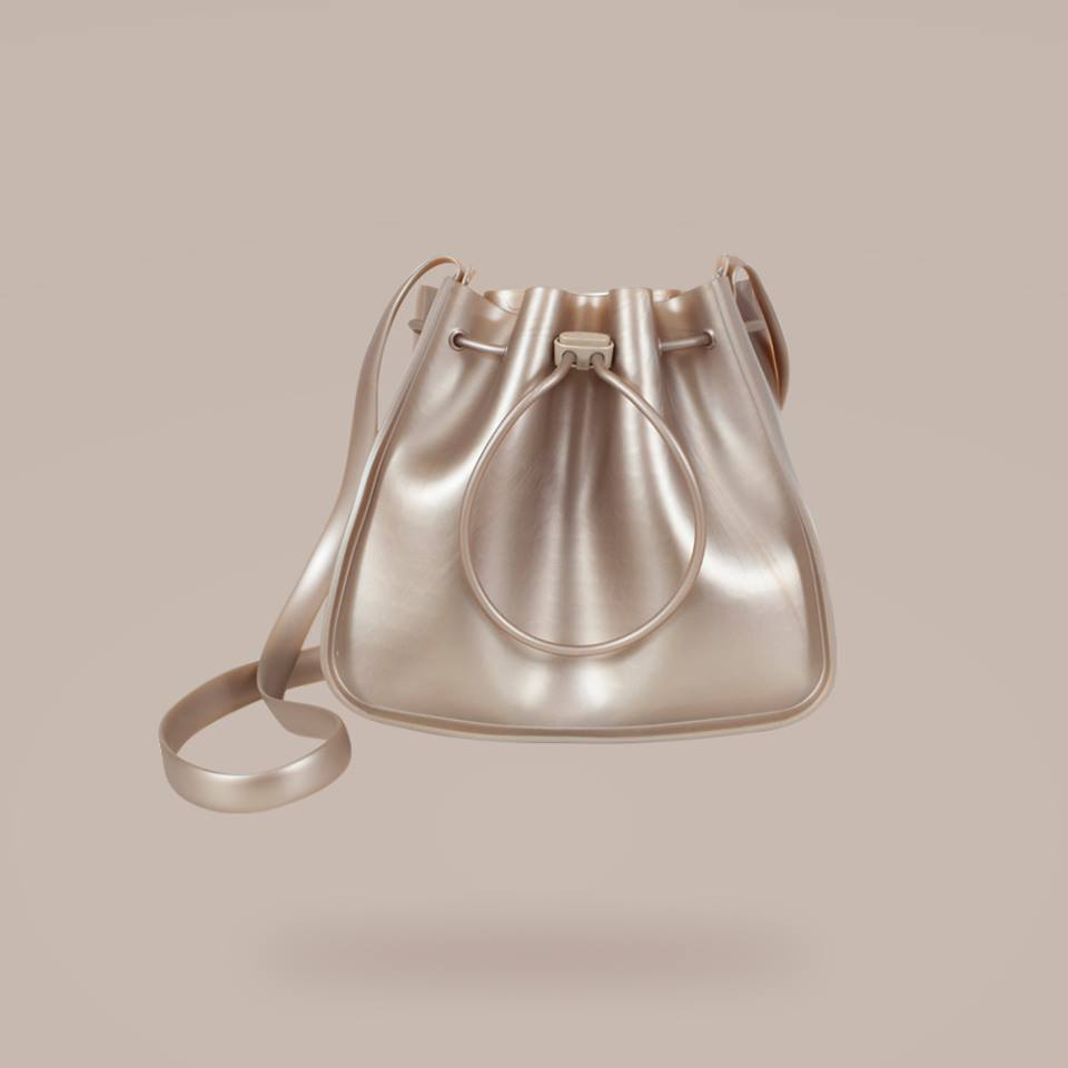 bag silver shoulder strap petite jolie pajamas pj2796 mellow prata grey pvc