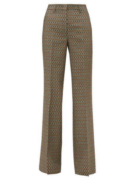 Etro - Cumbria Geometric Jacquard Trousers - Womens - Beige Multi