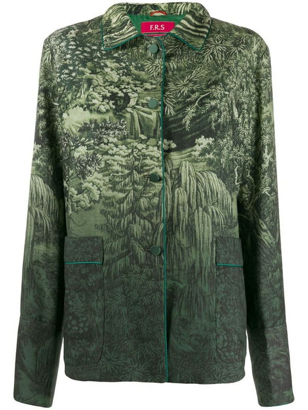 F.R.S For Restless Sleepers gradient nature jacket in green