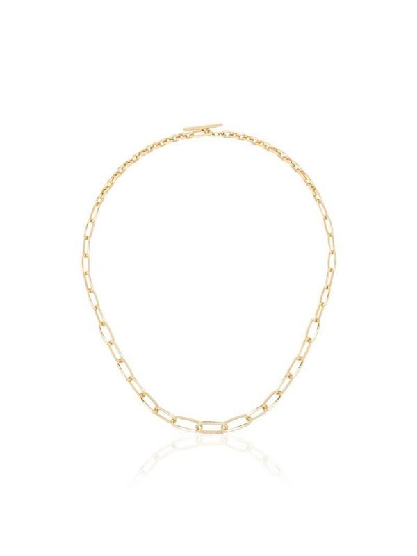 Lizzie Mandler Fine Jewelry 18kt Knife Edge diamond necklace in gold