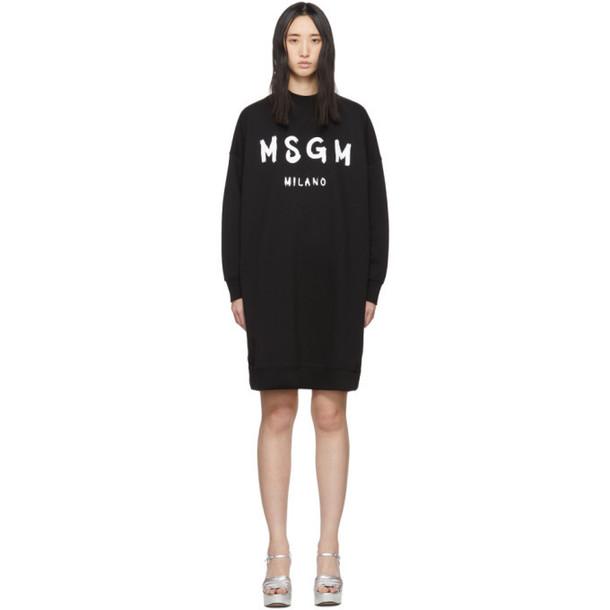 MSGM Black MSGM Milano T-Shirt Dress