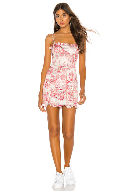 h:ours Renee Mini Dress in pink