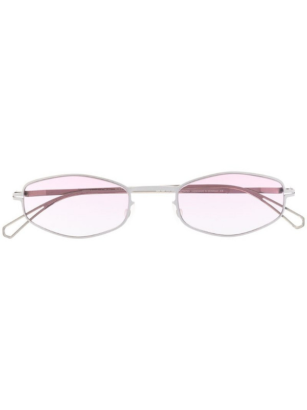 Mykita gradient geometric-frame sunglasses in silver