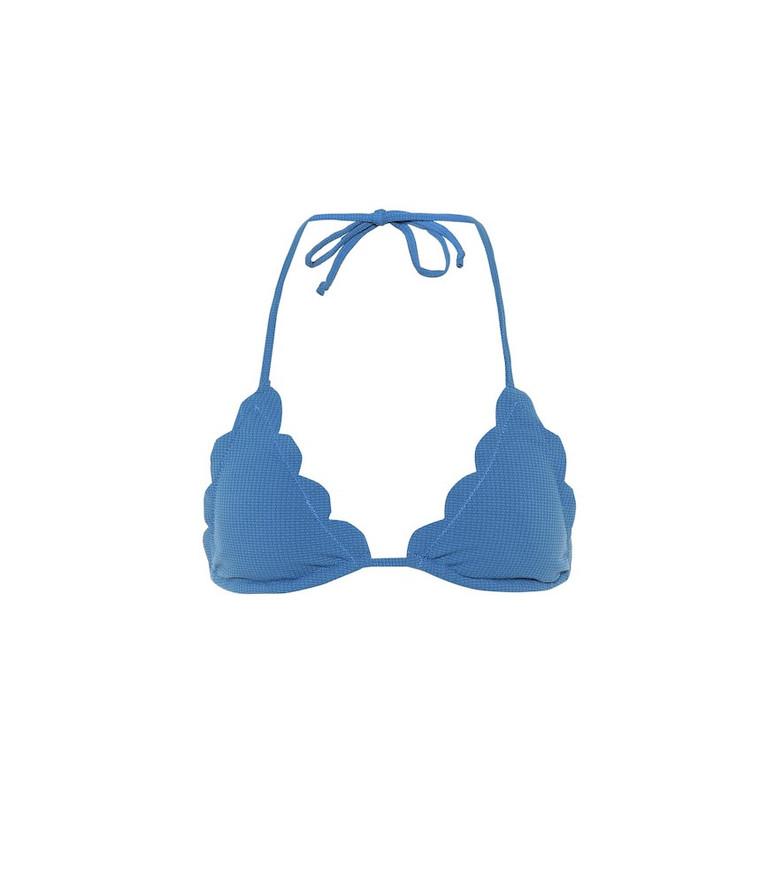 Marysia Broadway bikini top in blue
