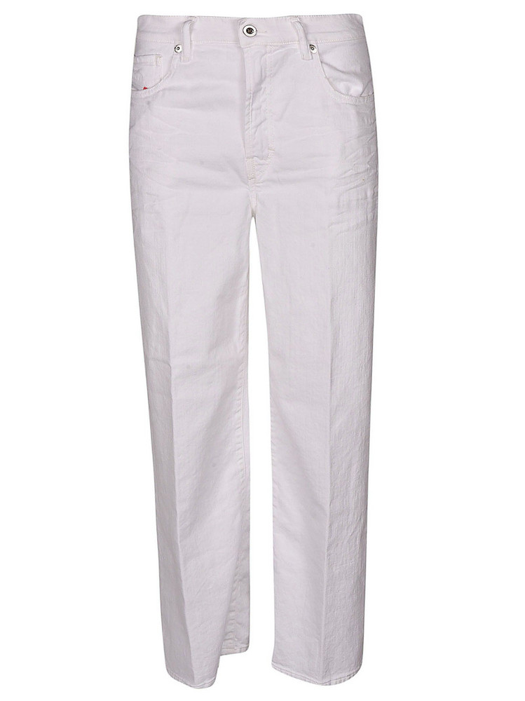 Diesel Plain Wide Jeans in white