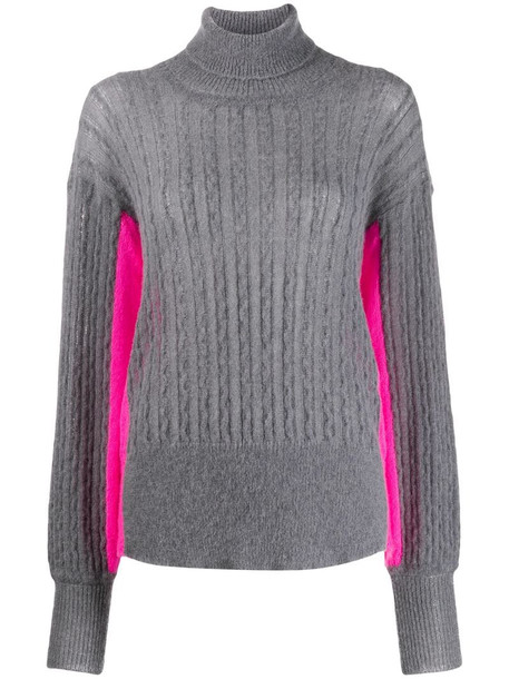 Maison Flaneur colour block jumper in grey