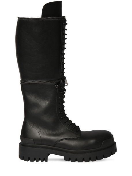 BALENCIAGA 40mm Master Tall Leather Boots in black