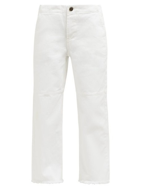Raey - Panelled Wide Leg Jeans - Womens - White
