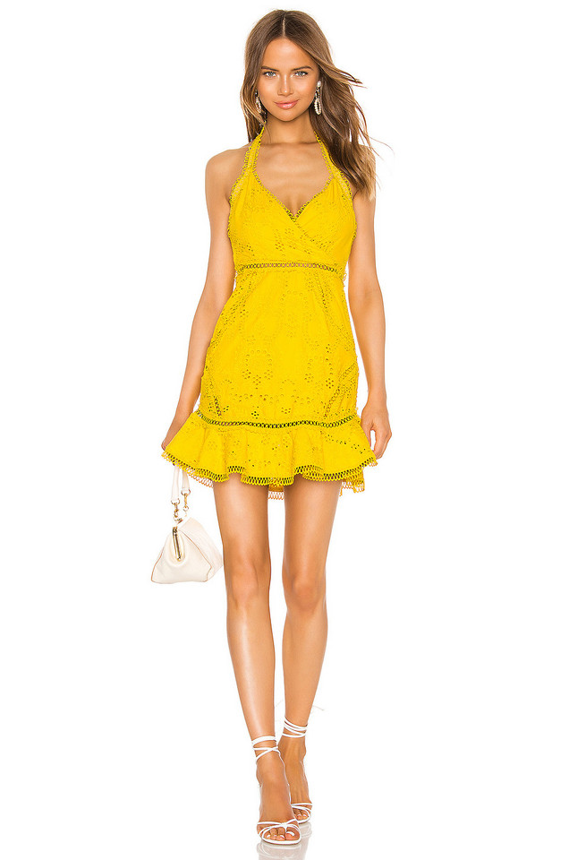 X by NBD Luxley Mini Dress in yellow