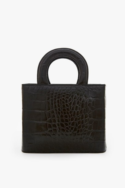 Staud NIC BAG | BLACK CROC EMBOSSED