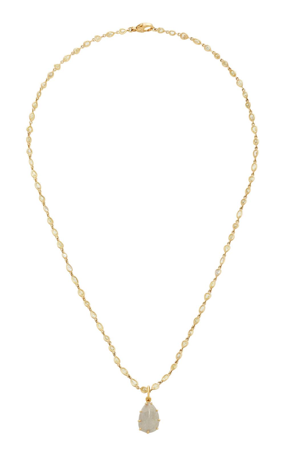 Sylva & Cie 18K Gold Diamond Necklace in grey