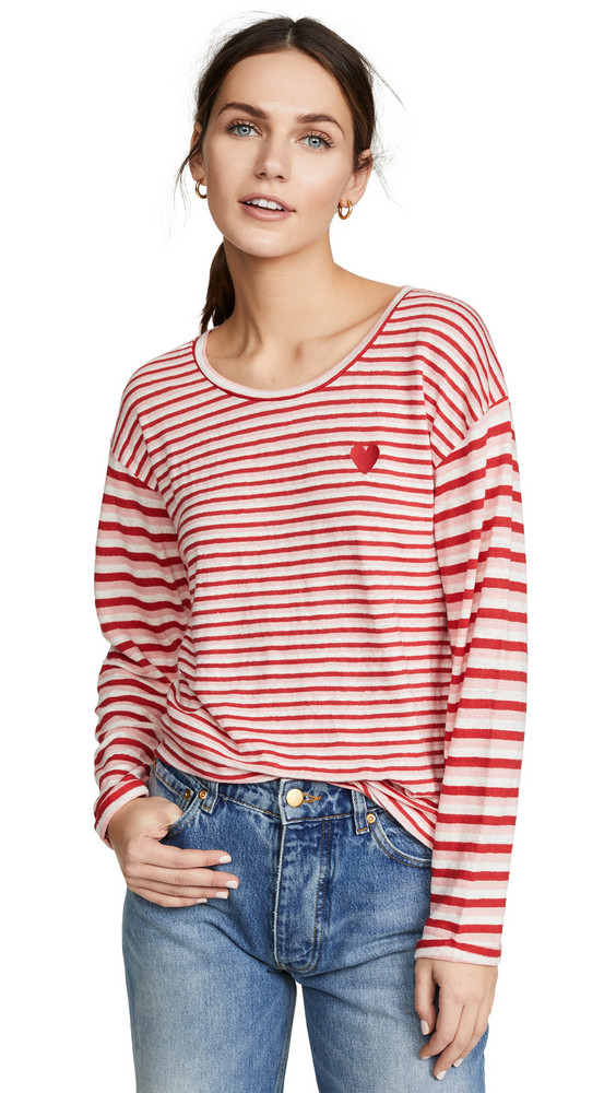 Chinti and Parker Isabel 3/4 Sleeve T-Shirt in rose