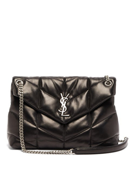 Saint Laurent - Loulou Medium Quilted Leather Shoulder Bag - Womens - Black