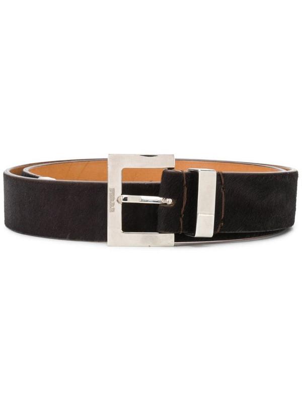 Gianfranco Ferré Pre-Owned 1990s logo buckle belt in brown