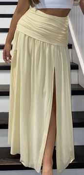 skirt,yellow maxi skirt high waisted