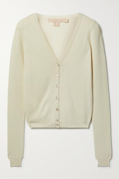 Brock Collection - Sasha Stretch-knit Cardigan - Ivory