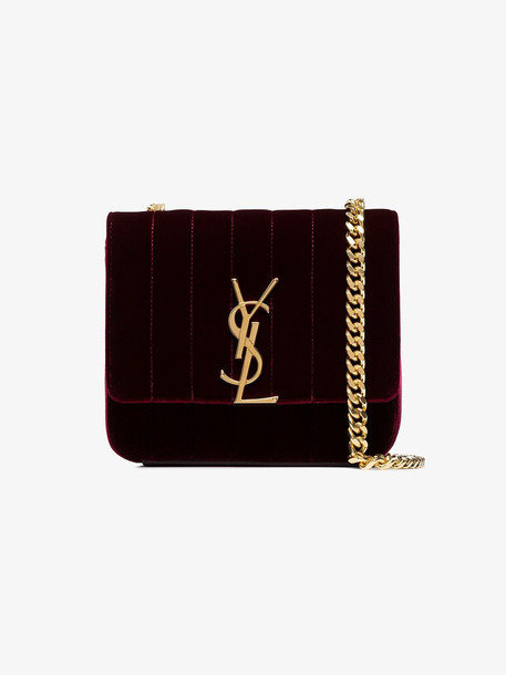 Saint Laurent Vicky small bag in red
