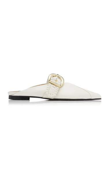 Reike Nen Buckled Leather Slides in white