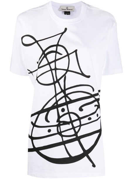 Vivienne Westwood Anglomania oversized printed T-shirt in white