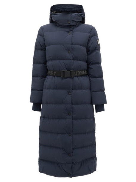 Burberry - Eppingham Belted Down-filled Puffer Coat - Womens - Navy
