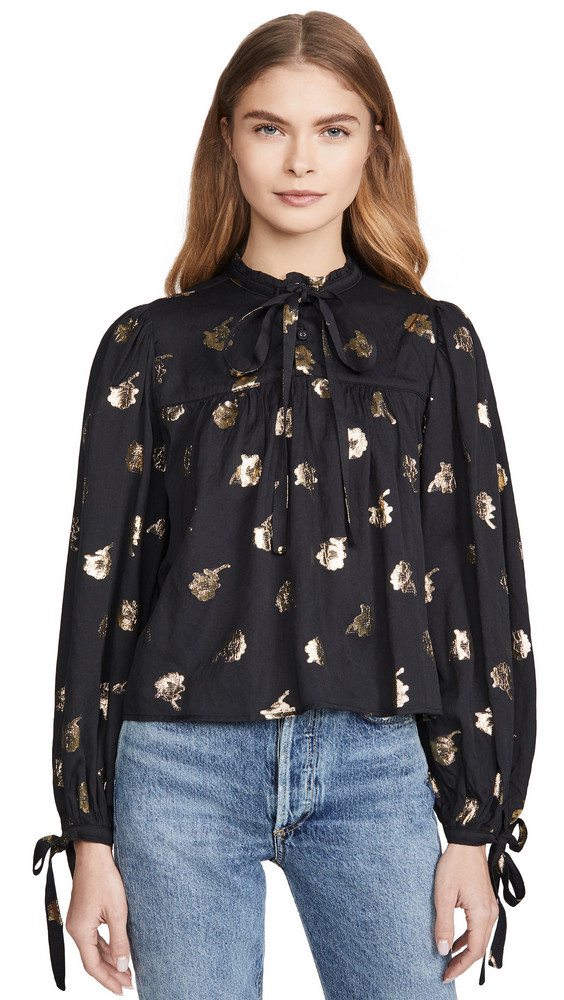 Warm Mystic Blouse in black