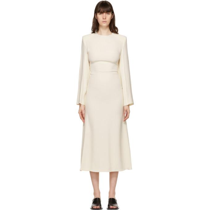 GAUCHERE Off-White Stanie Dress in cream