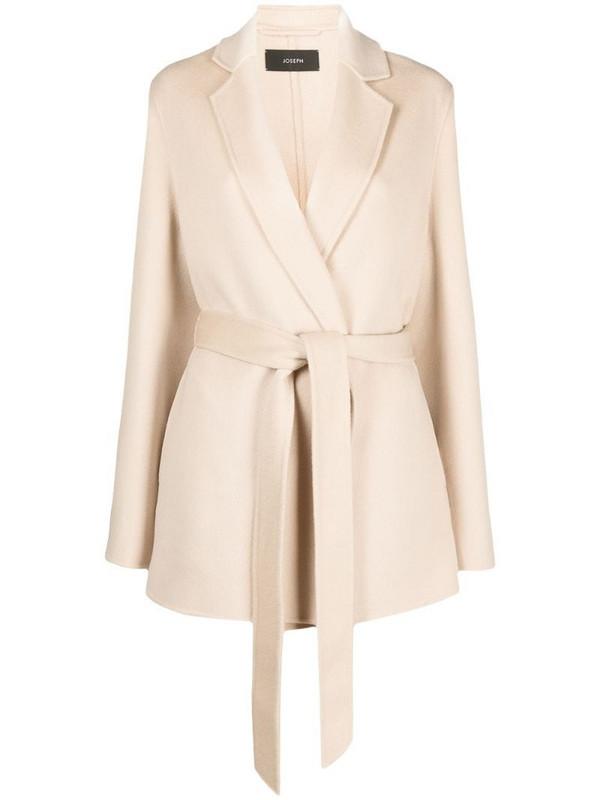 Joseph tie-waist blazer jacket in neutrals