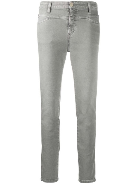 Closed mid-rise skinny jeans in grey
