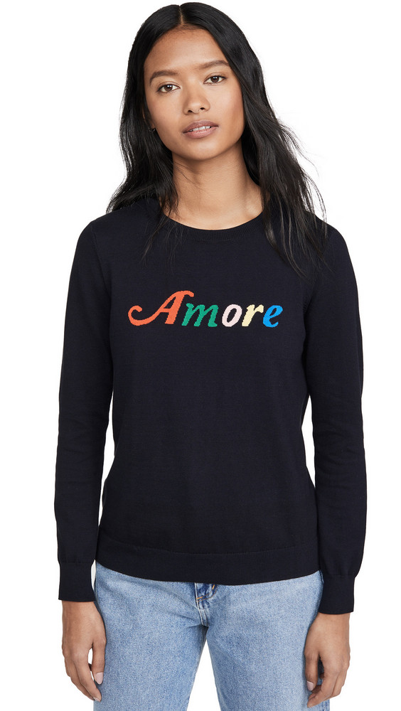 Chinti and Parker Amore Sweater in navy / multi