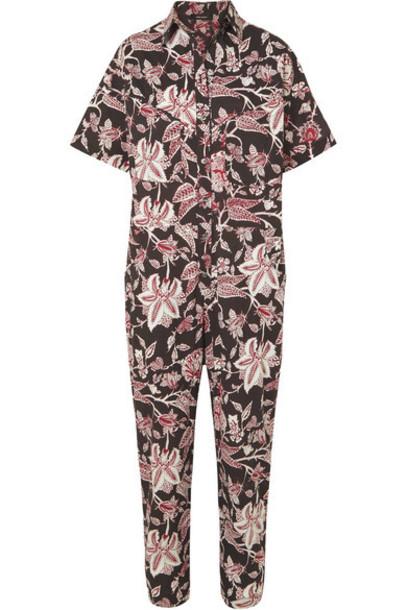 Isabel Marant - Lindsie Floral-print Cotton Jumpsuit - Black