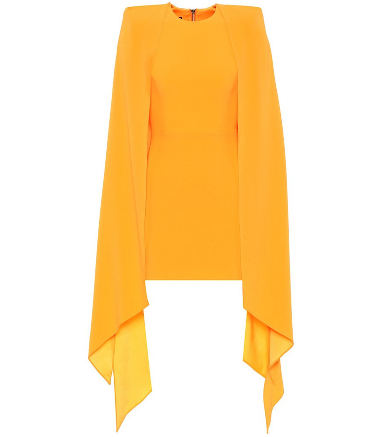 Alex Perry Tucker crêpe minidress in orange