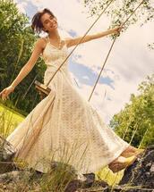 dress,white dress,elegant,v neck,long dress