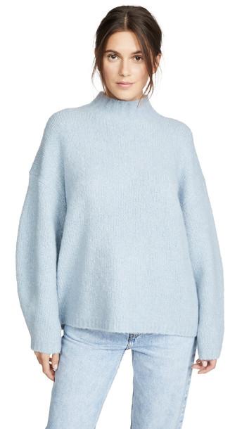 3.1 Phillip Lim Long Sleeve Drop Shoulder Pullover in blue