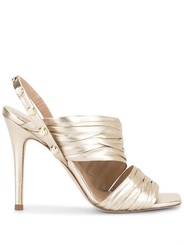 Ingie Paris draped effect sandals in silver